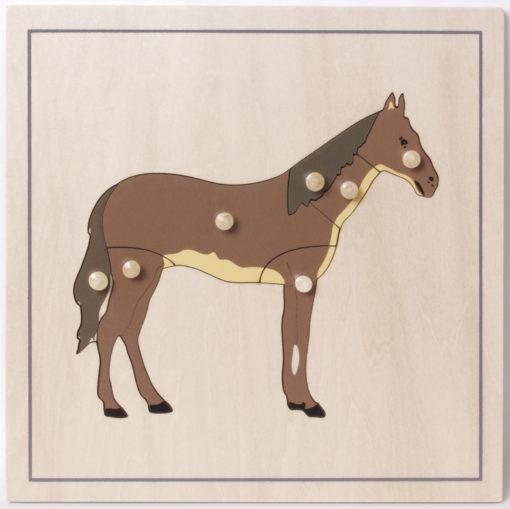 incastro animali puzzle cavallo