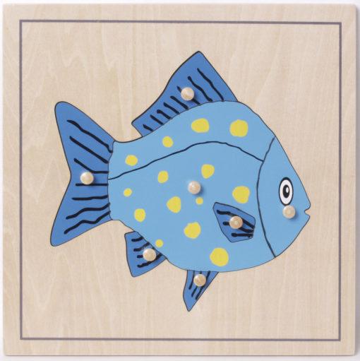 incastri animali puzzle pesce