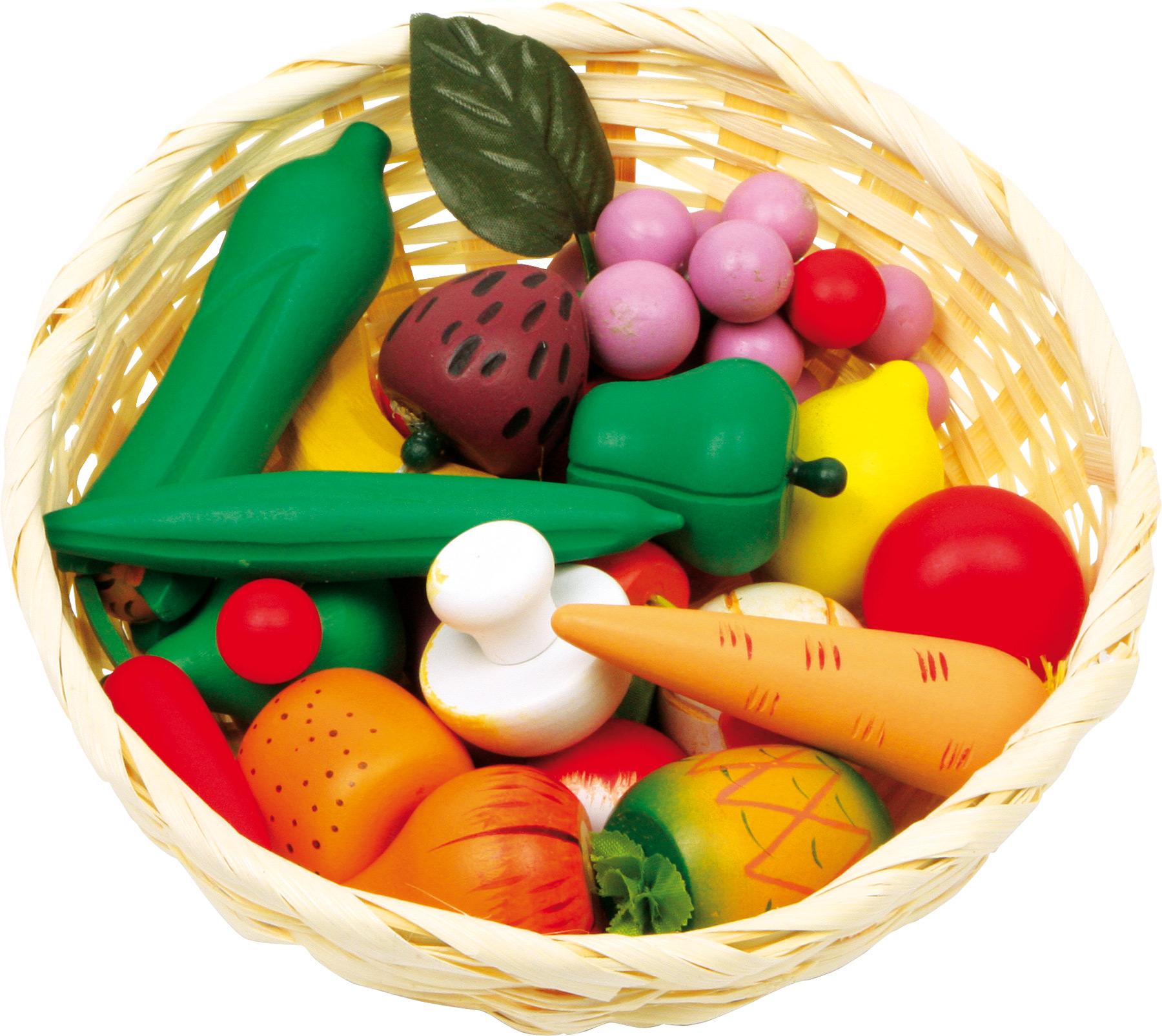 cestino di verdura in legno