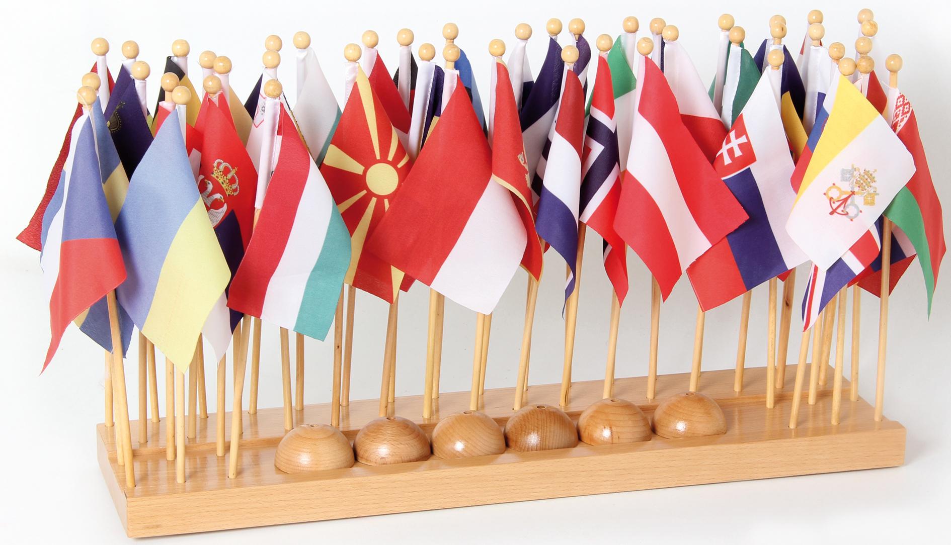 porta bandiera con bandiere (Europa)
