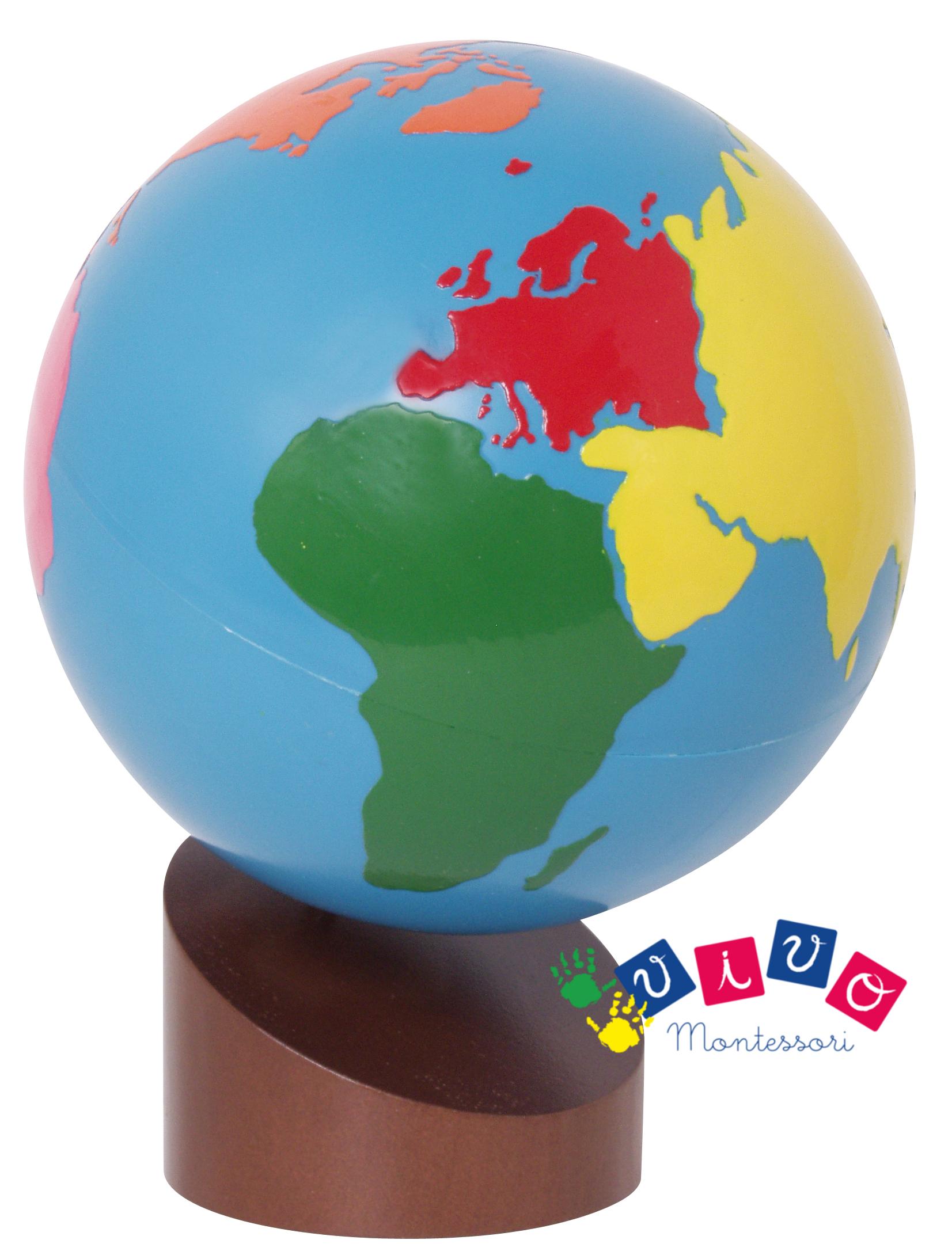 globo continenti vivo montessori