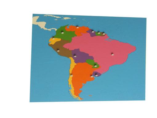 incastro continenti montessori america del sud