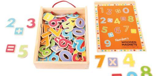 numeri magnetici in legno 2