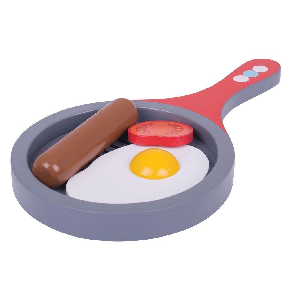 Cucina - pentola e uovo fritto colazione all\'inglese