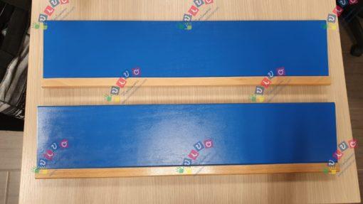 mensole porta incastri di ferro blu e rosa