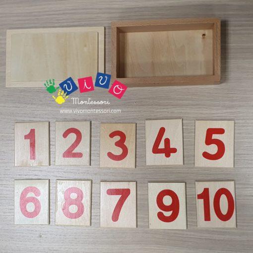 scatola dei numeri montessori