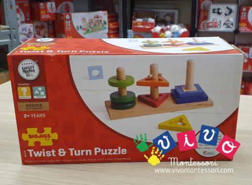puzzle ruota e gira incastro forme geometriche