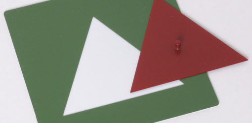 incastri per frazioni triangoli